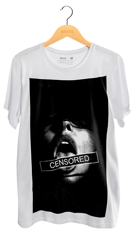 Camiseta Censored White - Gola Básica
