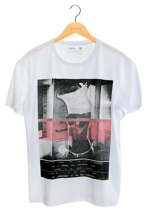Camiseta Sexy Girl White - Gola Básica
