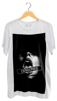 Camiseta Censored White - Gola Básica