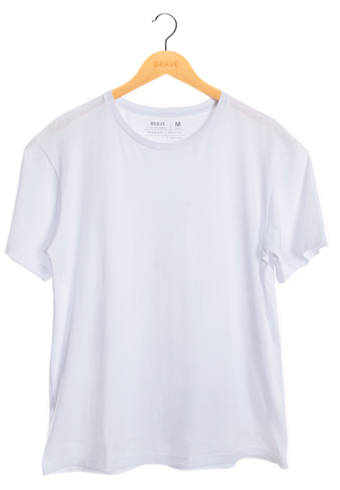 Camiseta Lisa White - Gola Básica