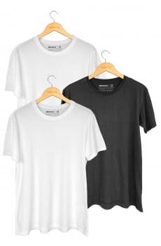 Kit 3 Camisetas Básicas