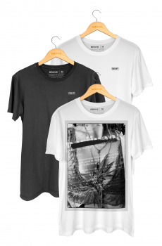 Kit 3 Camisetas Brave - Gola Básica
